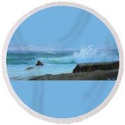 Double Wave Round Beach Towel