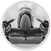 Douglass C-47 Skytrain - Dakota - Gooney Bird Round Beach Towel