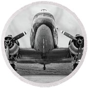 Douglass C-47 Skytrain - Dakota - Gooney Bird Round Beach Towel