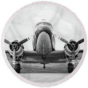 Douglass C-47 Skytrain - Gooney Bird Round Beach Towel