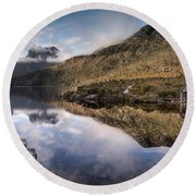 Dove Lake 2 Round Beach Towel