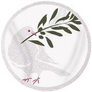 Dove Of Peace Round Beach Towel