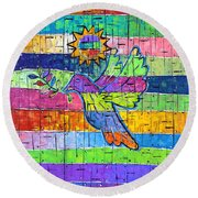 Dove Of Peace, Color And Light Round Beach Towel by Jeremy Aiyadurai