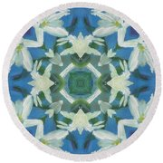 Doves Of Peace Round Beach Towel