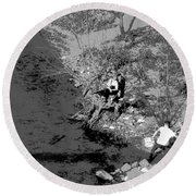 Down By The Old Mill Stream Round Beach Towel