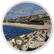 Down The Cove Round Beach Towel
