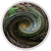 Down The Rabbit Hole Round Beach Towel