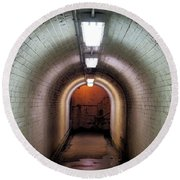 Down The Tunnel Round Beach Towel