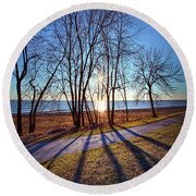 Round Beach Towel featuring the photograph Down This Way We Meander by Phil Koch