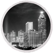 Downtown Atlanta Skyline Round Beach Towel