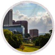 Downtown Beauty Round Beach Towel