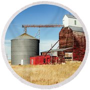 Downtown Benchland Round Beach Towel