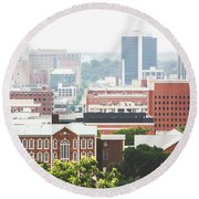 Round Beach Towel featuring the photograph Downtown Birmingham - The Magic City by Shelby Young