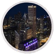 Downtown Chicago Round Beach Towel