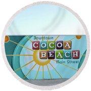 Downtown Cocoa Beach Round Beach Towel
