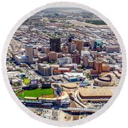 Downtown El Paso Round Beach Towel