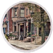 Downtown Jim Thorpe, Pa. Round Beach Towel