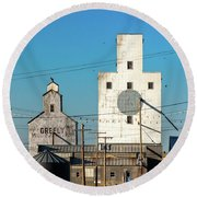 Downtown Joplin Round Beach Towel