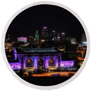 Downtown Kansas City  Round Beach Towel