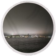 Downtown Oc Skyline Round Beach Towel