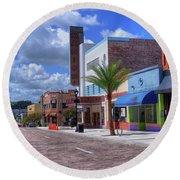 Downtown Ocala Theatre Round Beach Towel