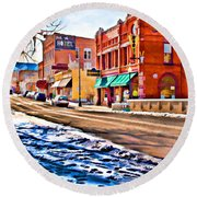 Downtown Salida Hotels Round Beach Towel