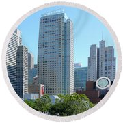 Round Beach Towel featuring the photograph Downtown San Fransisco by Mike McGlothlen