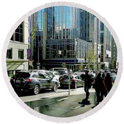 Downtown Seattle Round Beach Towel