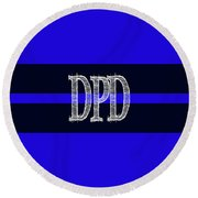 Dpd Blue Line Mug Round Beach Towel