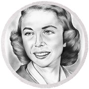 Dr. Joyce Brothers Round Beach Towel