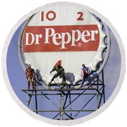 Dr Pepper And The Avengers Round Beach Towel