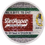 Dr Pepper Good For Life Round Beach Towel