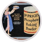 Dr. Prices Phosphate Baking Powder On Brick Round Beach Towel