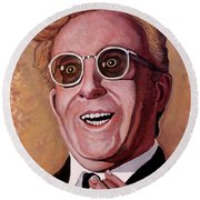 Round Beach Towel featuring the painting Dr. Strangelove 3 by Tom Roderick
