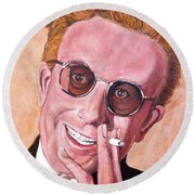 Round Beach Towel featuring the painting Dr Strangelove  by Tom Roderick