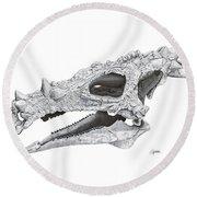 Dracorex Hogwartsia Skull Round Beach Towel
