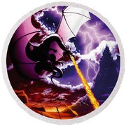 Dragon Attack Round Beach Towel by The Dragon Chronicles - Steve Re