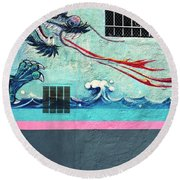 Dragon Breath Round Beach Towel
