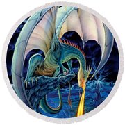 Dragon Causeway Round Beach Towel by The Dragon Chronicles - Robin Ko