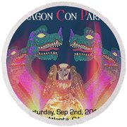 Dragon Con Parade Round Beach Towel