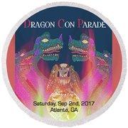 Dragon Con Parade Round Beach Towel by Megan Dirsa-DuBois