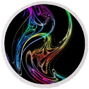 Round Beach Towel featuring the photograph Dragon Dance by Mark Blauhoefer