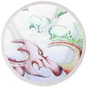 Dragon Round Beach Towel