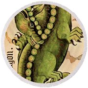 Dragon Dragon Round Beach Towel