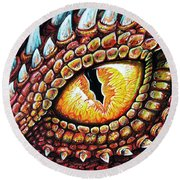 Dragon Eye Round Beach Towel