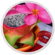 Dragon Fruit Round Beach Towel