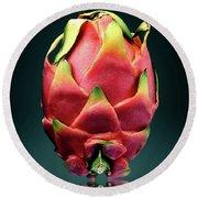 Dragon Fruit Or Pitaya  Round Beach Towel