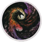 Dragon Galaxy Round Beach Towel by Stanley Morrison