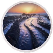 Dragon Lair Round Beach Towel