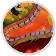 Dragon Round Beach Towel by Michael Nowotny